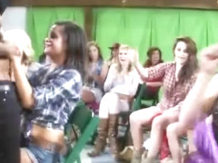Women Throw Country Themed Reverse Gangbang In Barn