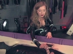 Femdom Jerking Off Mummified Submissive