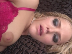 Exotic pornstars Alexis Texas and Breanne Benson in fabulous lingerie, facial adult video