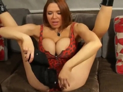 Nasty Redhead Slut Licks Her Own Anal Beads