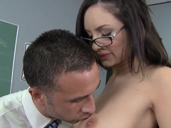 Seductive Amy Ried gets licked by horny Keiran Lee