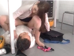 Japanese AV Model is a naughty office lady banged hard in the office