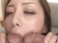 Sinful asian maki mizusawa gets licked and nailed