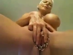 Strong Mature Whore With A Pierced Pussy