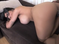 Ass licking blowjob threesome Mia Khalifa Tries A Big Black Dick