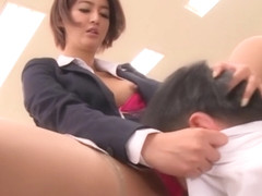 Sexy Asian teacher Nozomi Aso gets screwed and 69
