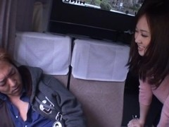 Sayuki Kanno naughty Asian milf fucked outside in the car
