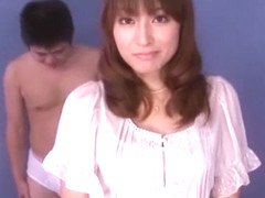 Horny Japanese model Karen Kisaragi in Crazy Blowjob, Medical JAV scene