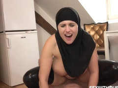 Muslim girl is dominating and seducing guys