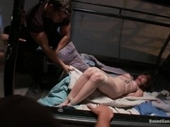 Brand New Girl Gets Tied up Gangbanged and Dped all for the FIRST TIME EVER