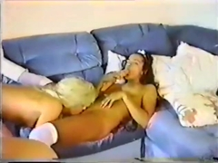Exotic pornstar Kylie Wylde in incredible blonde, vintage sex clip