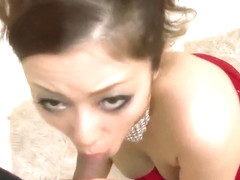 Appealing Meisa Hanai shakes them boobs when fucking