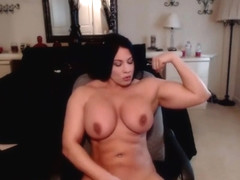 Muscle Seduction hot brunette