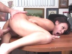 Cute brunette minx Sophia Torres adores blowjobs a lot