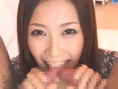 Incredible Japanese girl Kotone Amamiya in Crazy Threesome, Facial JAV video