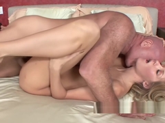 Innocent coed Emily Kae gets pounded with some old dick
