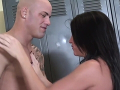 Brunette Gets Rough Fuck