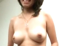Tugjob Expert Cutie Strips And Flashes Her Perky Tits