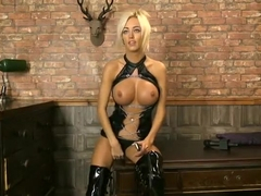 Kerrie Lee Cowan in PVC & Thigh bbots