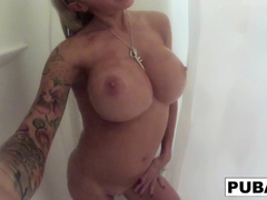 Helly Hellfire in Tattooed, Big Tittied Milf Helly Hellfire Takes A Long Shower - PUBA