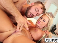Lolly Ink in Blonde Babe Lolly Ink Gets Her Wet Pussy Eaten - LollyInk
