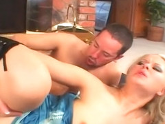 Blonde Hottie Looks It Rough In Her Snatch And Ass