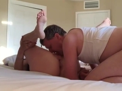 Grandma wants repeat sex and pussy creampie