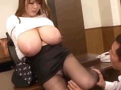 Jav secretary unreal huge boobs