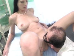 Big tit amateur pussy fucked by her doctor