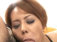 Charming buxomy Miley Ann gives a magic BJ