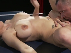 Haley Cummings and Scott Nails fucking at the ping pong table