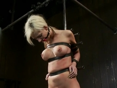 Petite Blonde and ready for some Wrong - helpless busty girl is made to cum hard