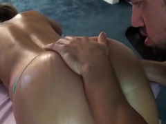 Busty Alanah Rae gets slammed hard