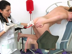 Lory gyno exam with enema and orgasm heartbeat part 2