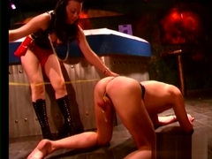 Ball Busting, Choking and Paddling By Hardcore Domina