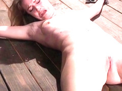 Slave spanked and caned in bondage