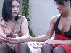 LickNylons Video: Ellen F and April B