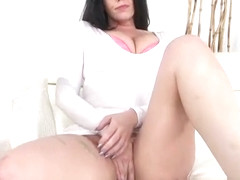 Drilling busty babe Ryan Smiles