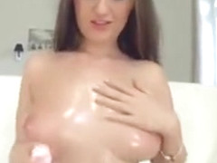 Kendra Star Massaging Her Big Tits With Oil