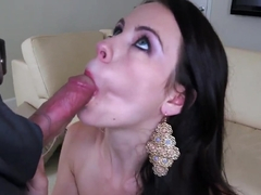 Veronica Radke sucks some strange dick here