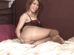 Alexx Zen Pantyhose in Bed