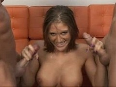 Eve Lawrence Double tugjob