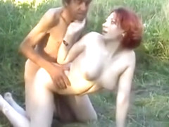 Slut fucks homeless guy