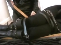 Bondage girl in straitjacket