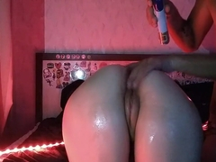 Anal tail Petplay pussy wife ass oil