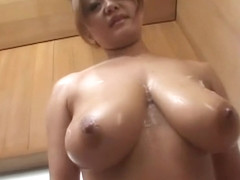 Natural busty japanese in lingerie