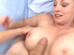 Horny Granny Cala Craves Blows and Tit Fucks a Guy Before Taking a Facial
