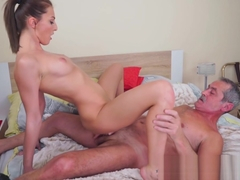 Hot Katy Rose gets pussy banged by old big dick Max Magnum