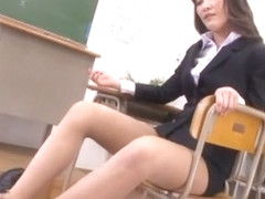 Horny Japanese girl Aoki Misora in Best Blonde, Footjob JAV movie
