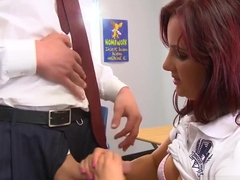 Uniform teen jizz spray